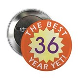 36 birthday button Buttons