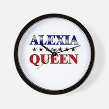 ALEXIA for queen Wall Clock