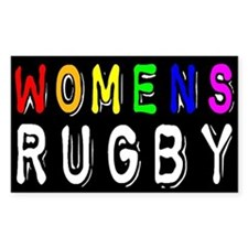 Women's Rugby Pride Sticker (Rect.)