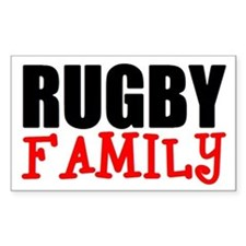 Rugby Family Rectangle Decal