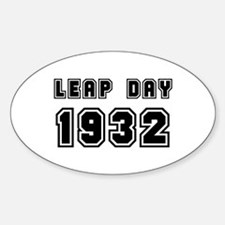 LEAP DAY 1932 Oval Decal