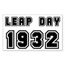 LEAP DAY 1932 Rectangle Decal
