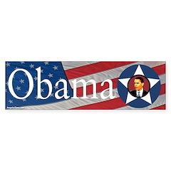 Obama American Flag Bumper Bumper Sticker