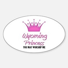 Wyoming Princess Oval Decal