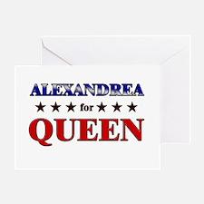ALEXANDREA for queen Greeting Card