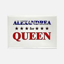 ALEXANDREA for queen Rectangle Magnet