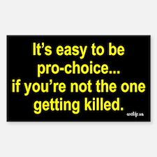 Anti-pro-choice Decal
