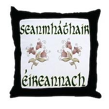Irish Grandmother Floral 2 Throw Pillow