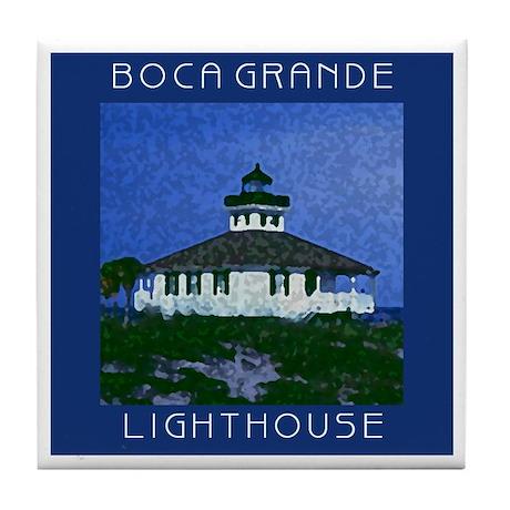 Boca Grande Lighthouse Tile Trivet/Coaster