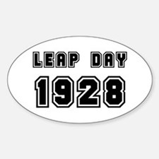 LEAP DAY 1928 Oval Decal