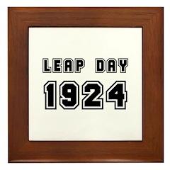 LEAP DAY 1924 Framed Tile