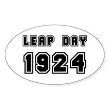 LEAP DAY 1924 Oval Decal