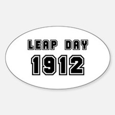 LEAP DAY 1912 Oval Decal