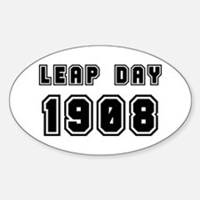 LEAP DAY 1908 Oval Decal