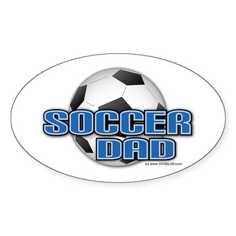 Soccer Dad Oval Sticker
