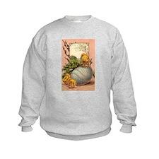 Vintage Easter Chicks Postcard Design Sweatshirt