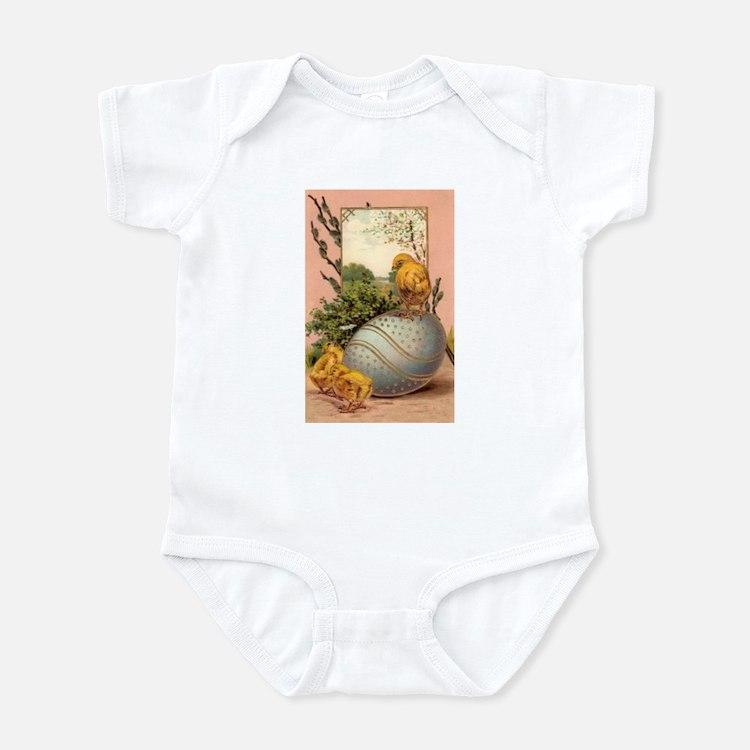 Vintage Easter Chicks Postcard Design Infant Bodys