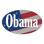Obama American Flag Oval Bumper Sticker