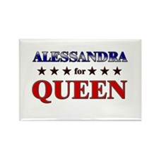 ALESSANDRA for queen Rectangle Magnet
