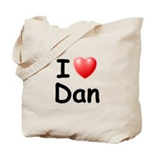 I Love Dan (Black) Tote Bag