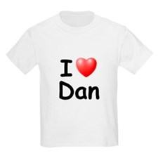 I Love Dan (Black) T-Shirt