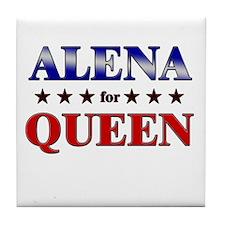 ALENA for queen Tile Coaster