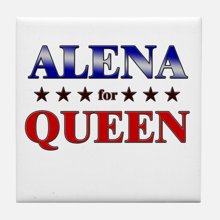 ALENA for queen Tile Coaster