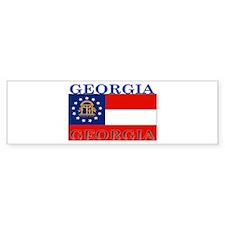 Georgia Georgian State Flag Bumper Bumper Sticker