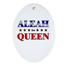 ALEAH for queen Oval Ornament