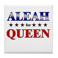 ALEAH for queen Tile Coaster