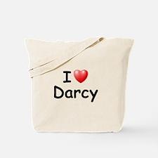 I Love Darcy (Black) Tote Bag