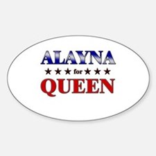 ALAYNA for queen Oval Decal