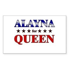 ALAYNA for queen Rectangle Decal