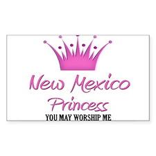 New Mexico Princess Rectangle Decal