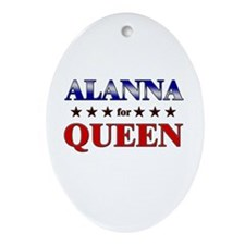 ALANNA for queen Oval Ornament
