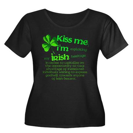 Kiss me, I'm Irish Women's Plus Size Scoop Neck Da
