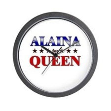 ALAINA for queen Wall Clock