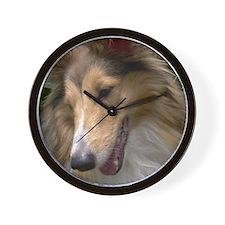 Sheltie Face Wall Clock