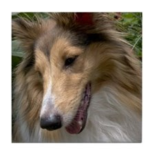 Sheltie Face Tile Coaster