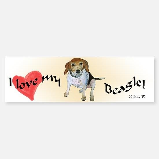 Daisy the beagle Bumper Bumper Bumper Sticker