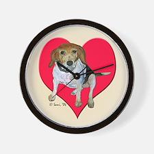 Daisy, the beagle Wall Clock