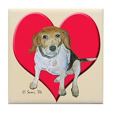 Daisy the Beagle Tile Coaster