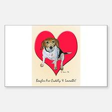 Daisy the Beagle Rectangle Decal