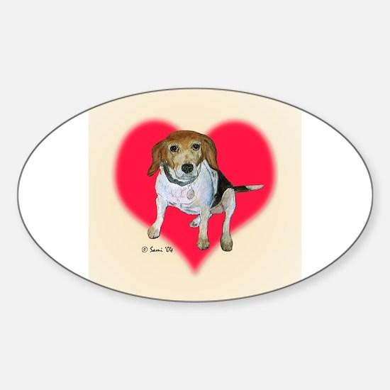 Daisy the Beagle Oval Decal