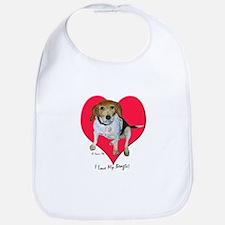 Daisy the Beagle Bib