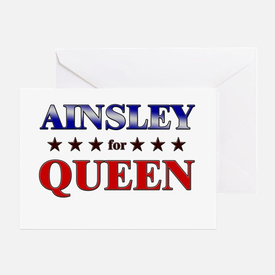 AINSLEY for queen Greeting Card