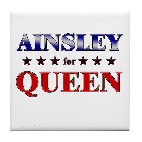 AINSLEY for queen Tile Coaster