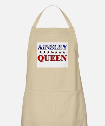 AINSLEY for queen BBQ Apron