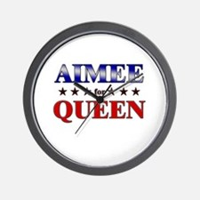 AIMEE for queen Wall Clock
