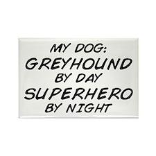 Greyhound Superhero Rectangle Magnet
